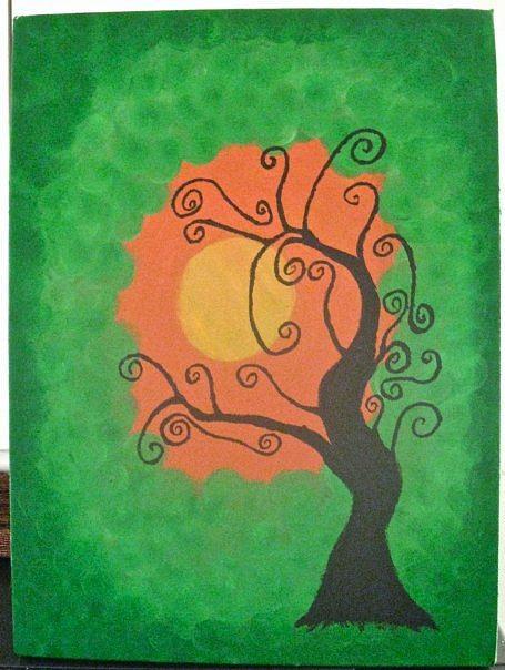 Tree Painting - Sunday Afternoon by Krysten Jorgensen