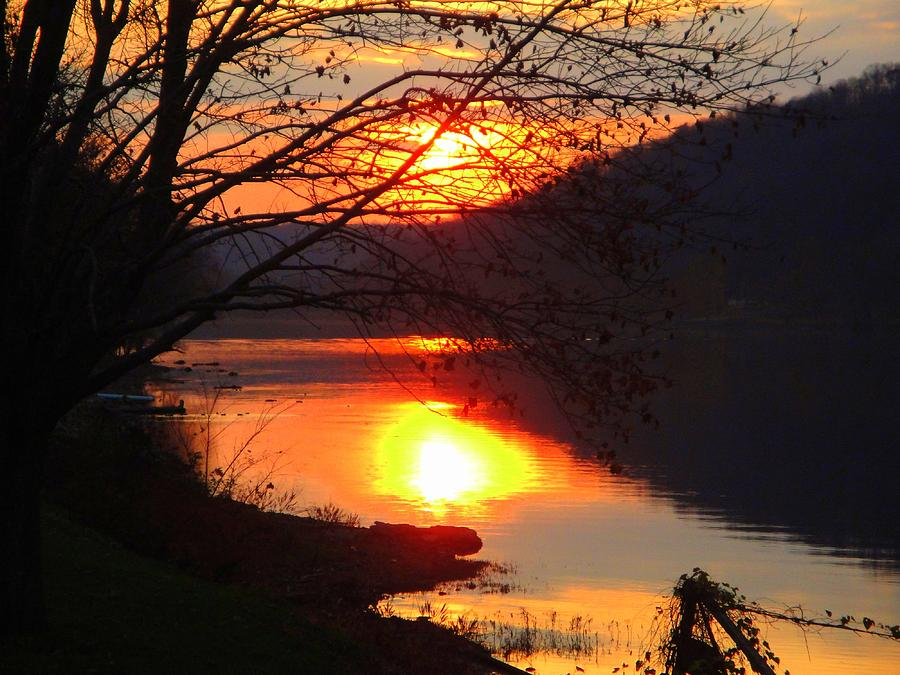 Ohio River Photograph - Sunday By The River by Terry  Wiley