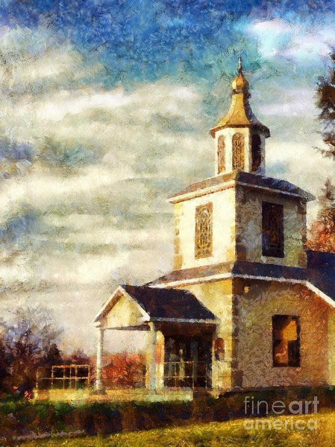 Sunday Church - On this Day by Janine Riley