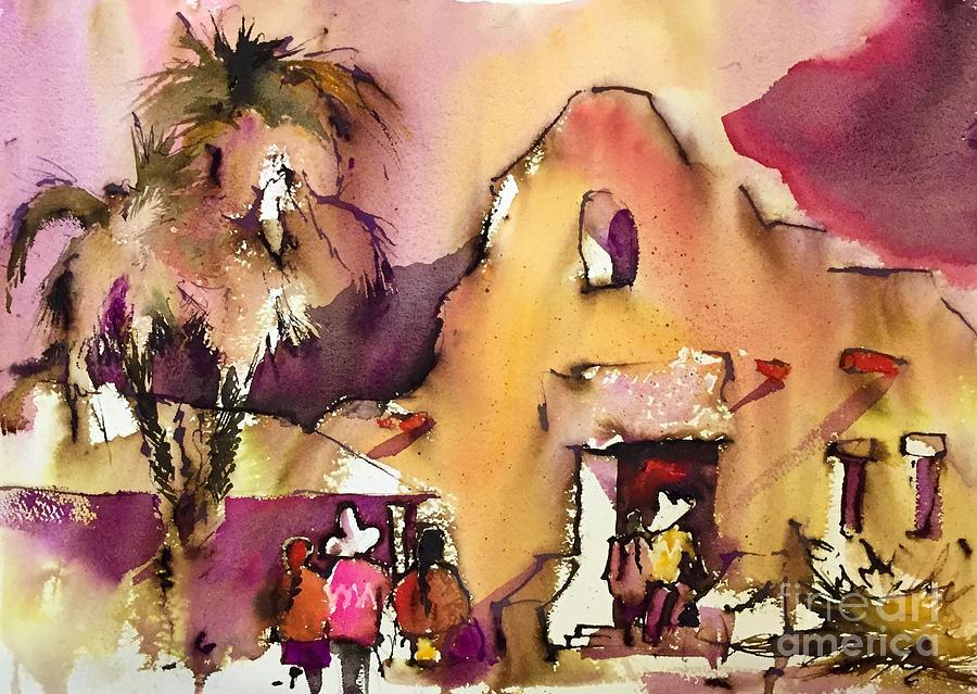 Landscape Painting - Southwestern Sunday by John Byram
