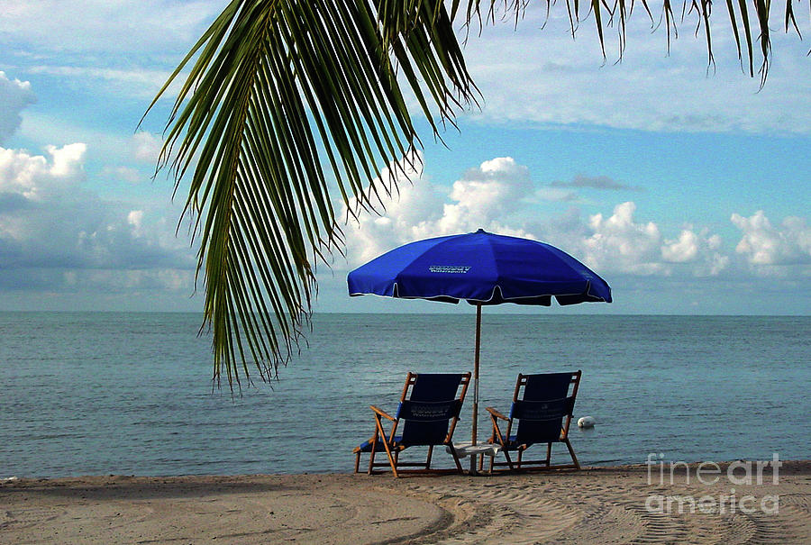Beach Photograph - Sunday Morning At The Beach In Key West by Susanne Van Hulst