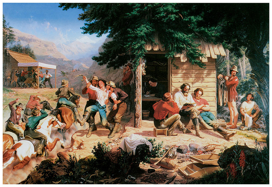 Sunday Morning In The Mines Painting By Charles Christian Nahl