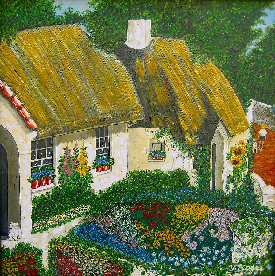 Gardens Painting - Sunday Morning In The Netherlands by V Boge