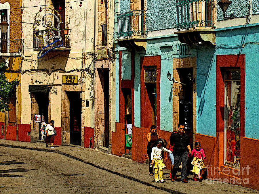 Darian Day Photograph - Sunday Morning Stroll by Mexicolors Art Photography