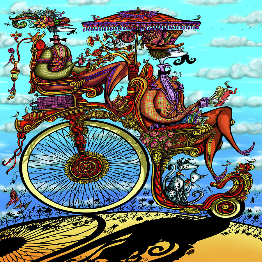 Sunday Ride Mixed Media by Wagl Store