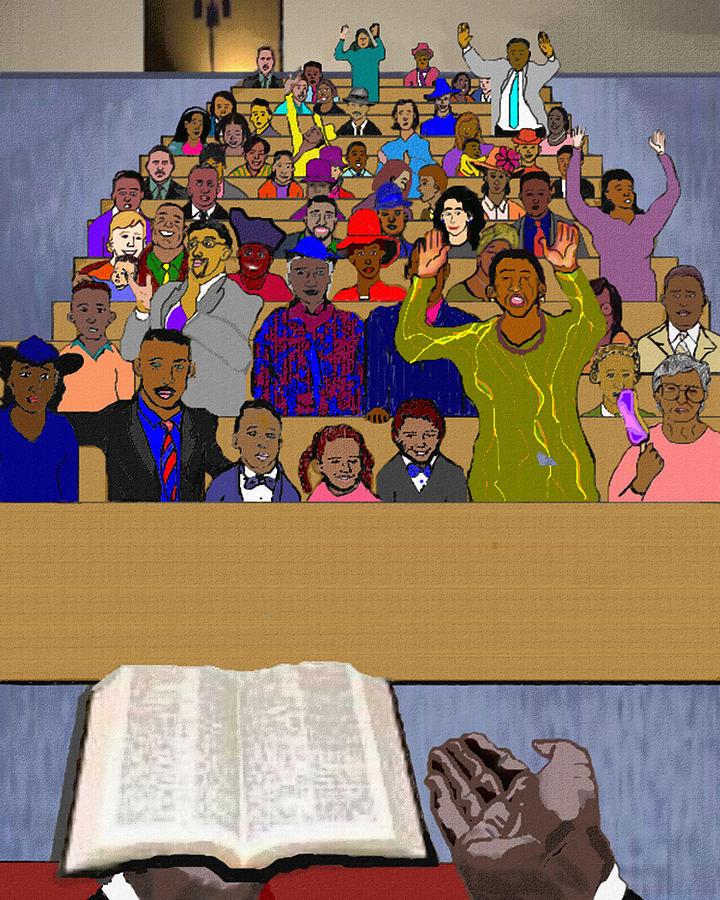 Sermon Painting - Sunday Sermon by Pharris Art