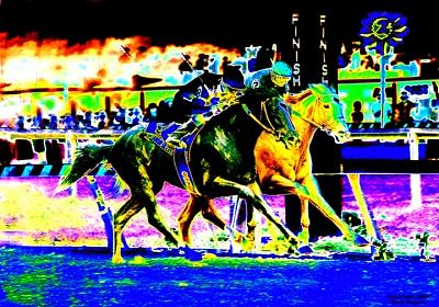 Horse Racing Digital Art - Sunday Silence by Gary Rogers