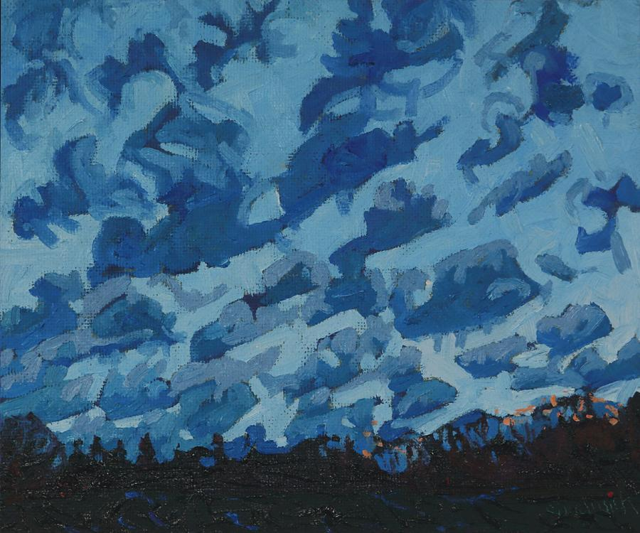 2091 Painting - Sunday Sunrise Cumulus Floccus by Phil Chadwick