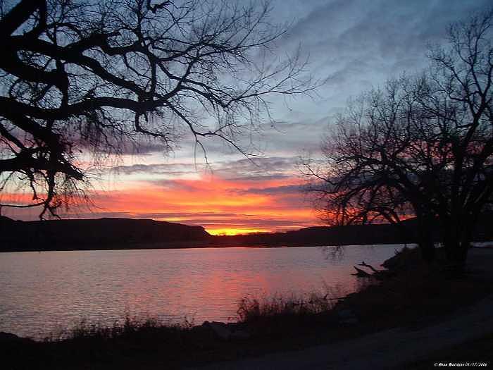 Lake Photograph - Sundown At Lake Scott by Stan Hutchins