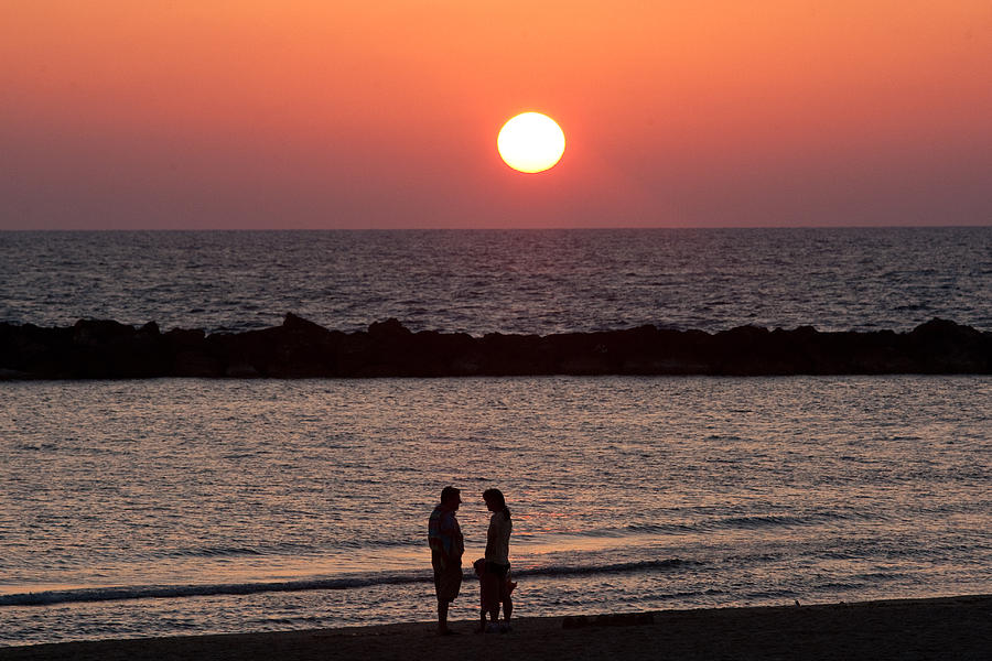 Israel Photograph - Sundown On Tel Aviv Beach by Paco Feria