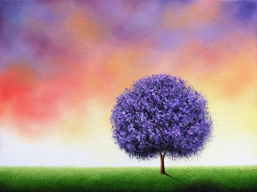 Landscape Painting Painting - Sundown by Rachel Bingaman