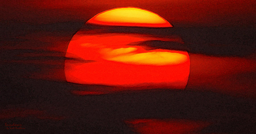 Sun Photograph - Sundown by Scott Washburn