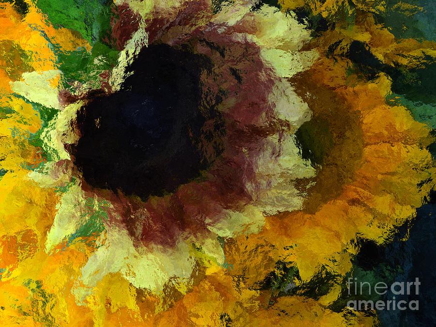 Sunflower Photograph - Sunflowers 1 by Jack Gannon