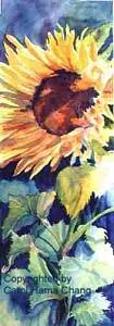 Sunflower Painting by Carol Hama Chang