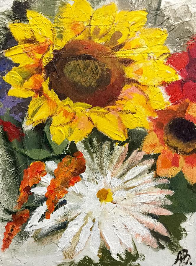 Sunflower Painting - Sunflower by Anastasiya Baron