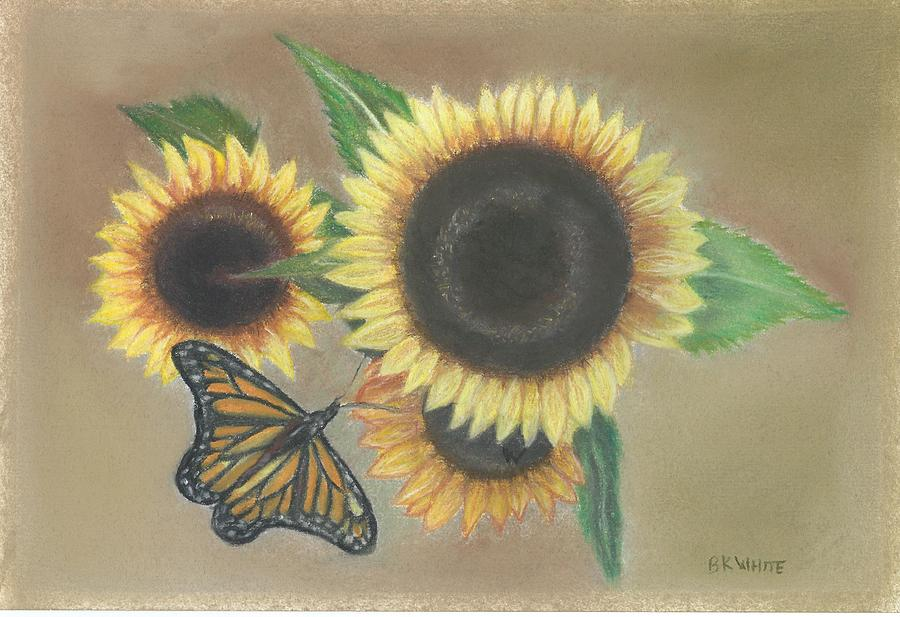 Sunflowers and a Monarch by Brian White