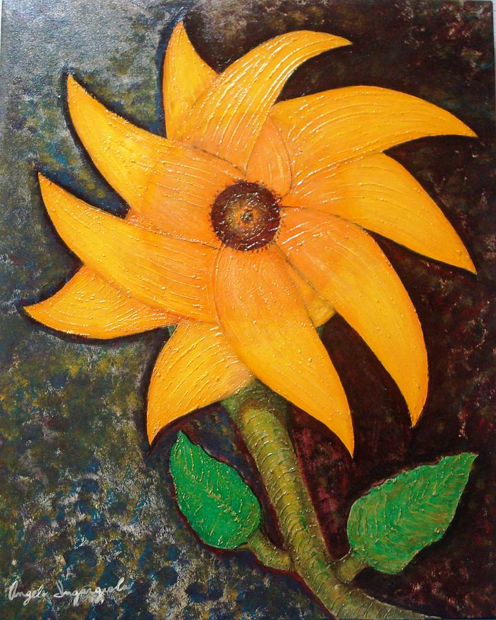 Sunflower Painting - Sunflower by Angelo Ingargiola