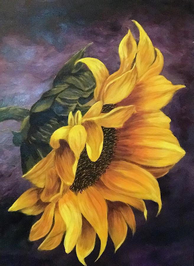 Sunflower at Dusk Painting by Francesca Deluca