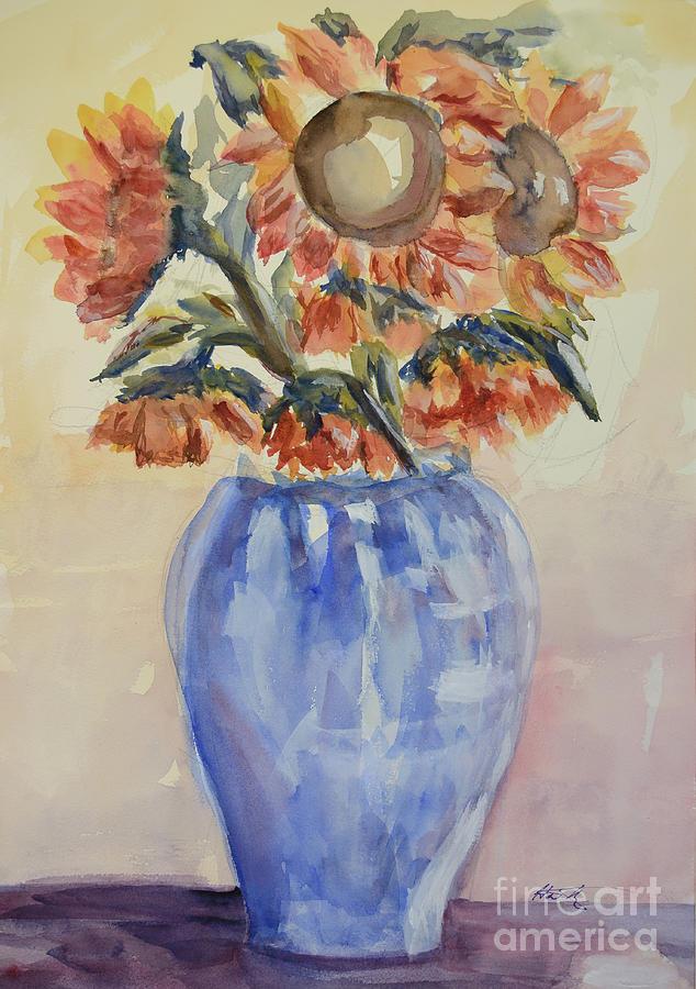 Sunflower Painting - Sunflower Bouquet by Heather Kertzer