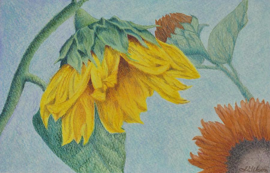 Floral Arrangements Painting - Sunflower Buddies by Lisa Gibson Art