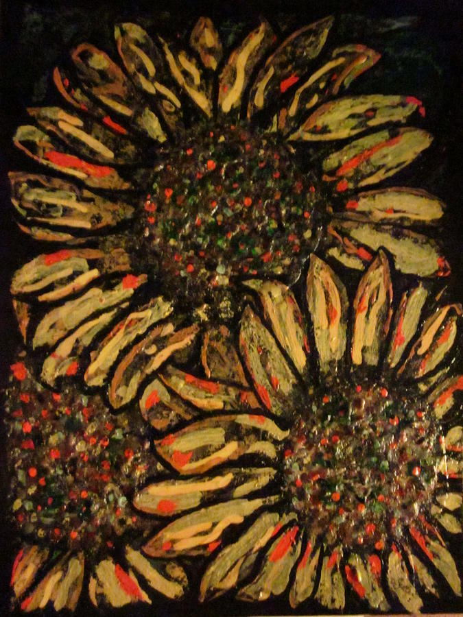 Flowers Mixed Media - Sunflower by David Sutter