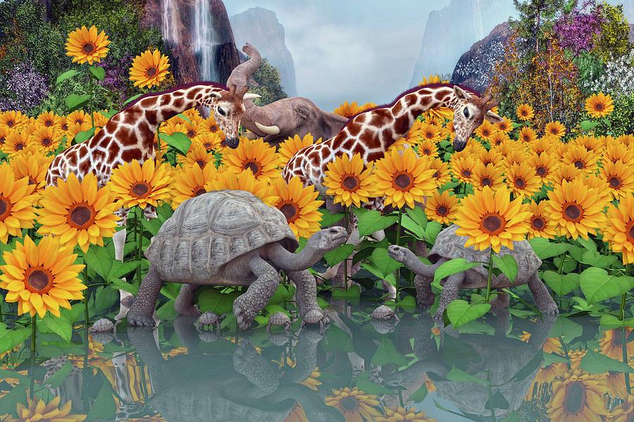 Sunflower Digital Art - Sunflower Daydream II by Betsy Knapp