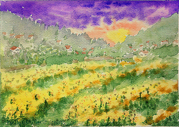 Sunflower Painting - Sunflower Field by Kelly Miller