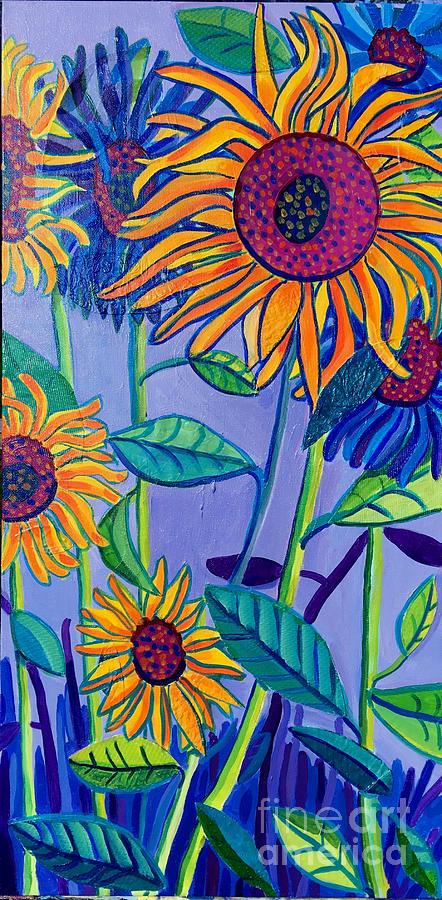 Sunflowers Painting - Sunflower Garden by Debra Bretton Robinson