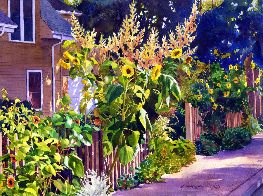 Garden Painting - Sunflower Garden by Marguerite Chadwick-Juner