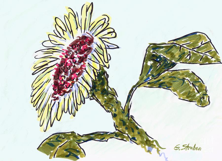Sunflower Mixed Media - Sunflower by Gary Strahan