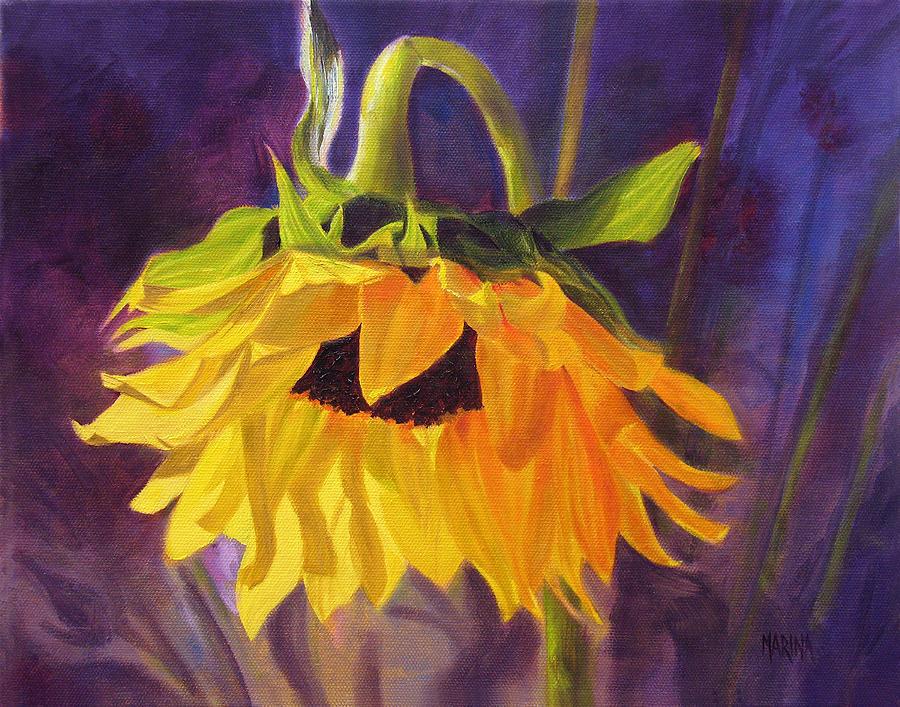 Sunflower Painting - Sunflower Glow by Marina Petro