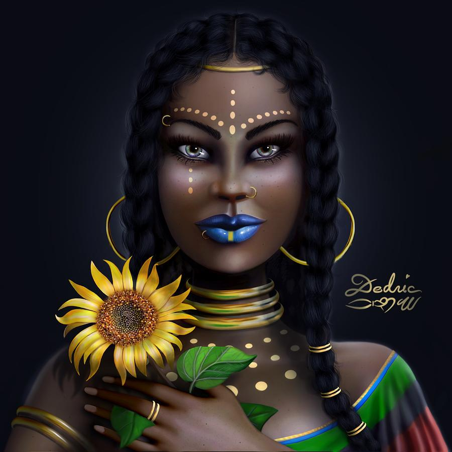 Sunflower Goddess  by Dedric Artlove W