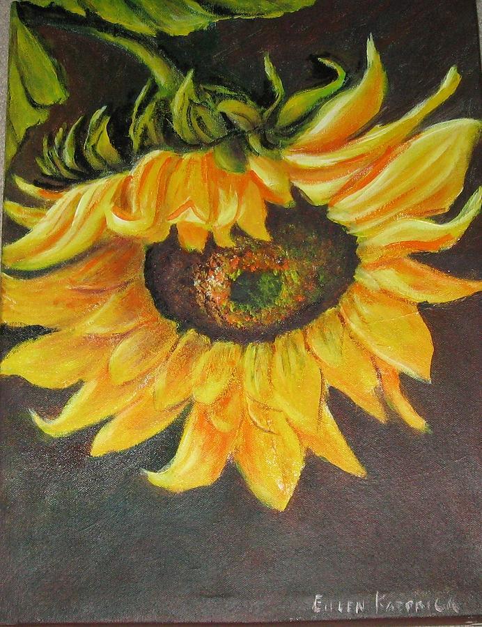 Sunflower Painting - Sunflower II by Eileen Kasprick