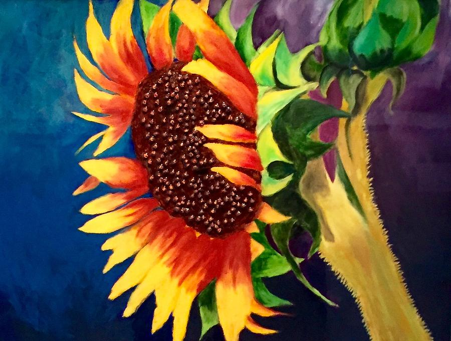 Sunflower Painting - Sunflower In Bloom by Jason Rosenstock