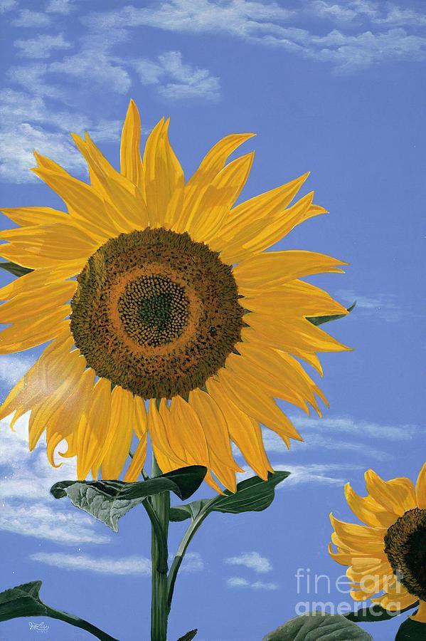 Sunflower Painting - Sunflower by Jiji Lee