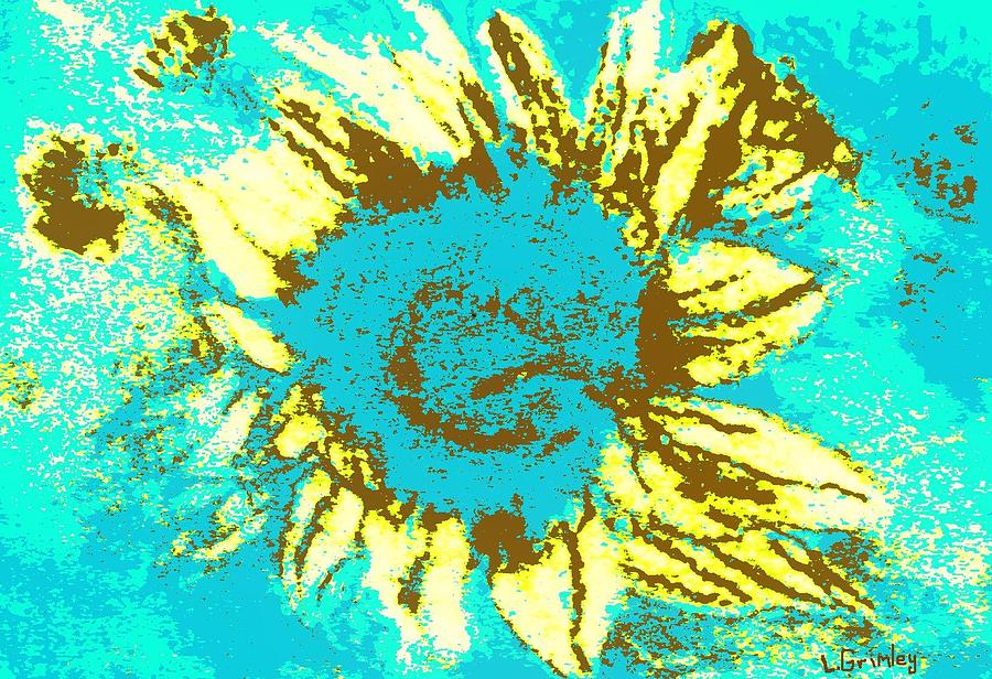 Flower Mixed Media - Sunflower by Lessandra Grimley