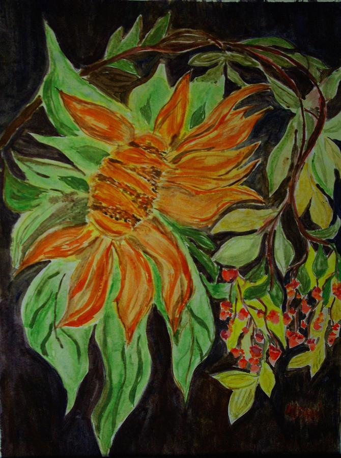 Flowers Painting - Sunflower  by Liliana Andrei