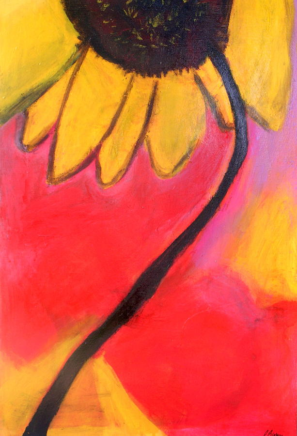 Sunflower Painting - Sunflower Love by Patricia Byron