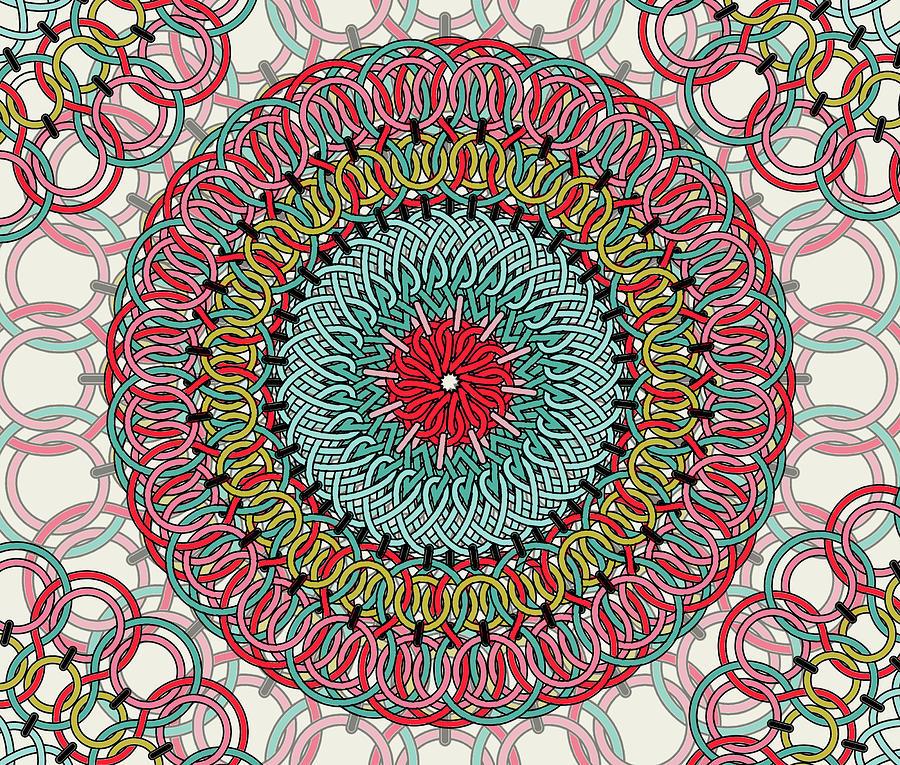 Sunflower Mandala Digital Art by Mark Ashkenazi