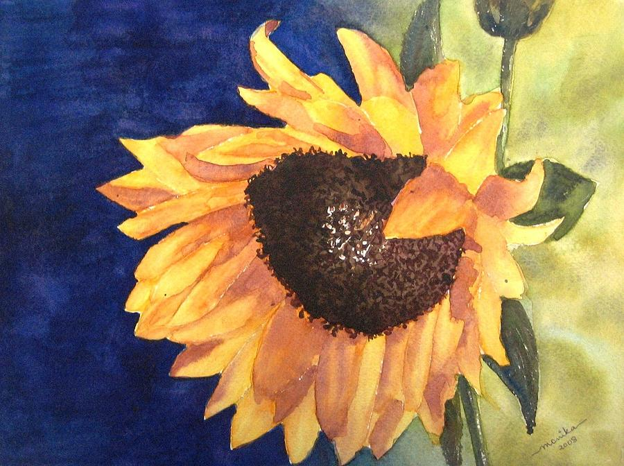 Flower Painting - Sunflower by Monika Deo