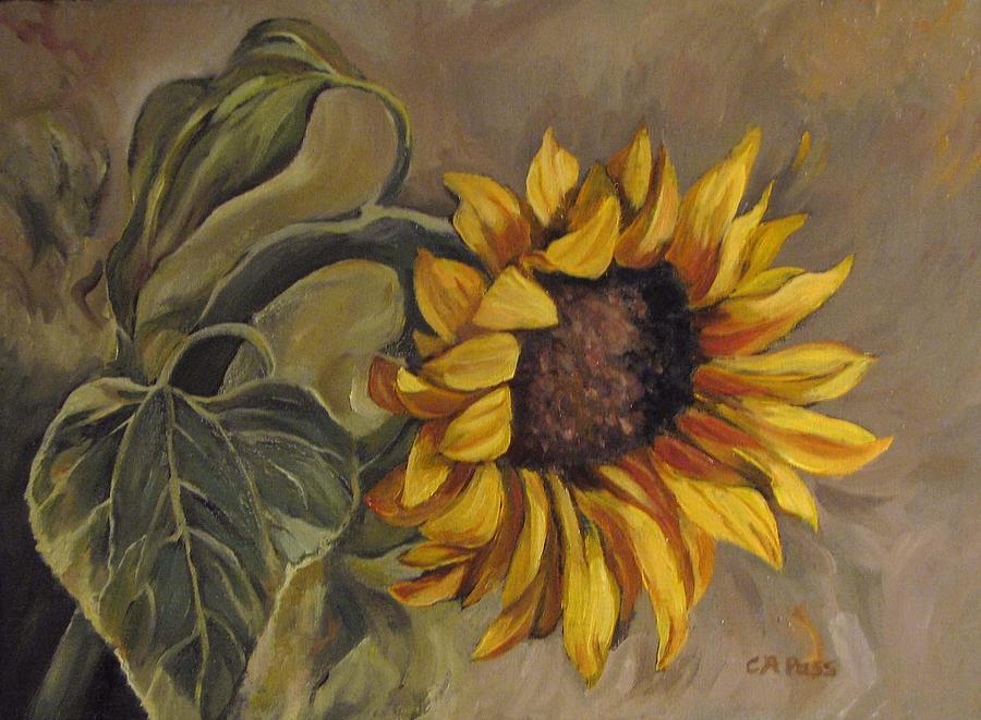Sunflower Painting - Sunflower Nod by Cheryl Pass