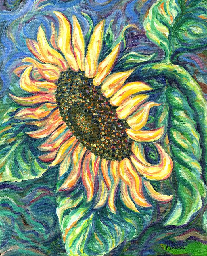 Flower Painting - Sunflower One by Linda Mears