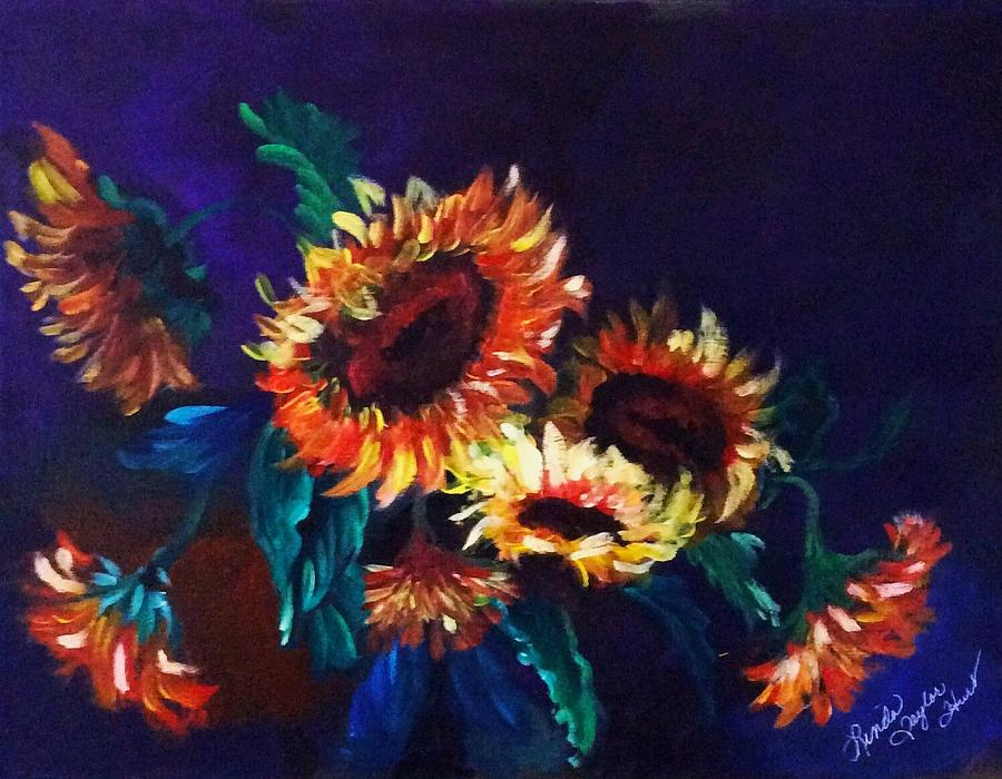 Floral Painting - Sunflower Power by Linda Taylor-Hurt