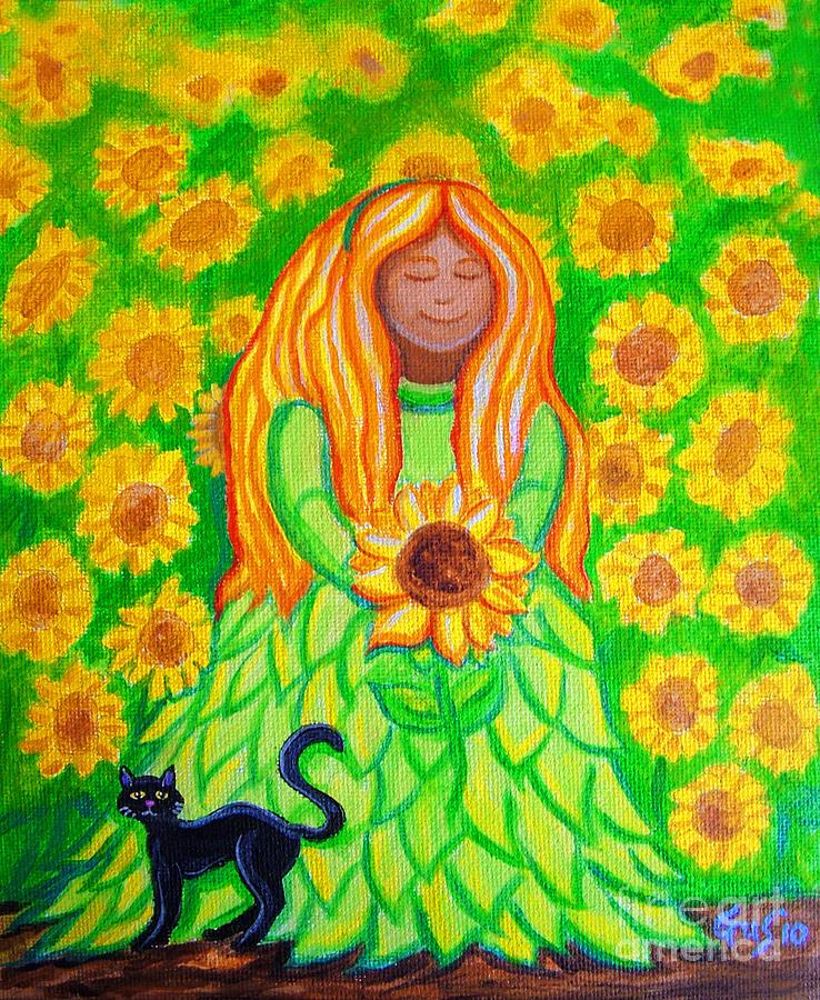 Sun Flowers Painting - Sunflower Princess by Nick Gustafson
