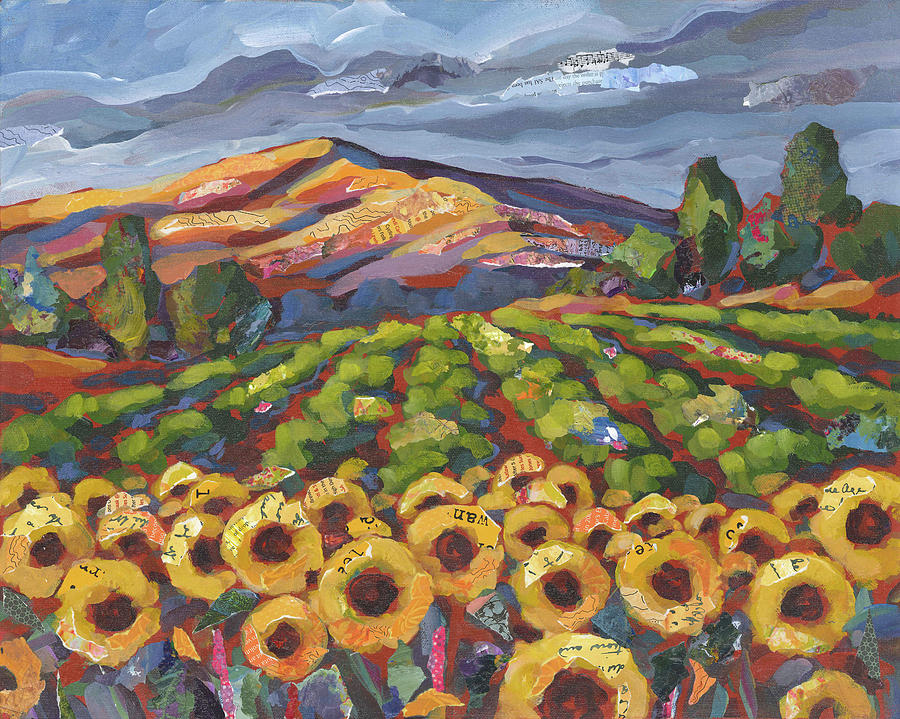Sunflowers Painting - Sunflower Ranch by Shelli Walters