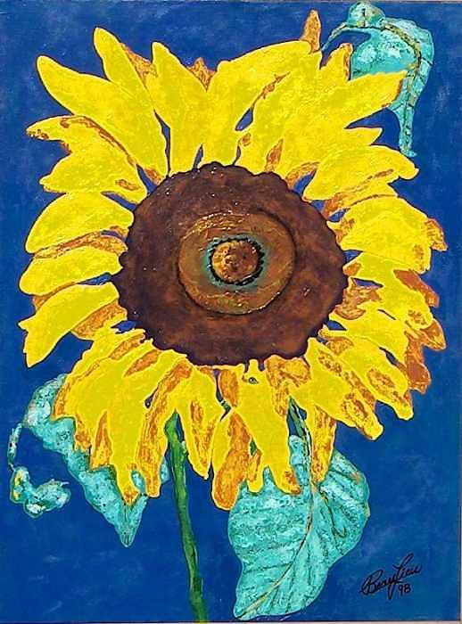 Painting Painting - Sunflower by Richard W Beau Lieu