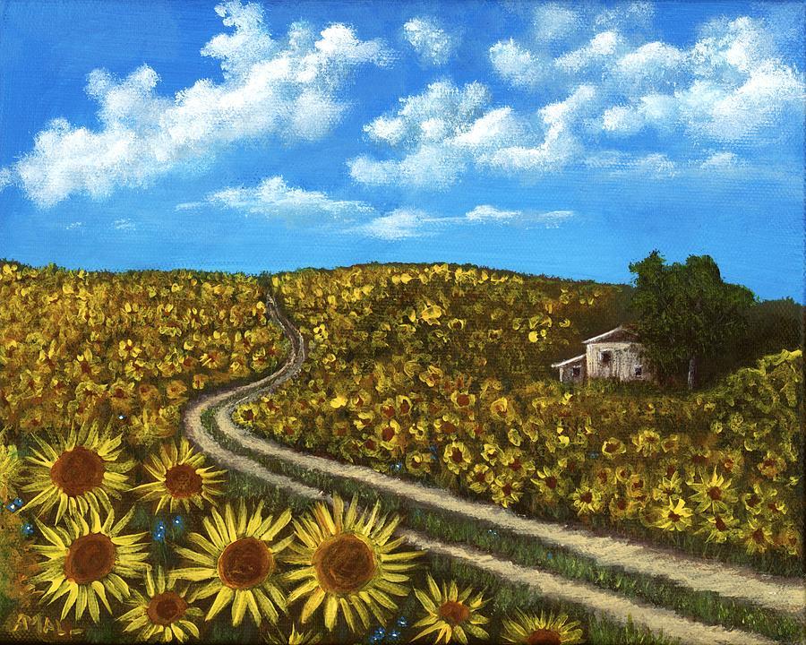 Sunflower Road by Anastasiya Malakhova