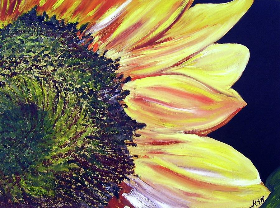 Sunflower Painting - Sunflower Single by Maria Soto Robbins
