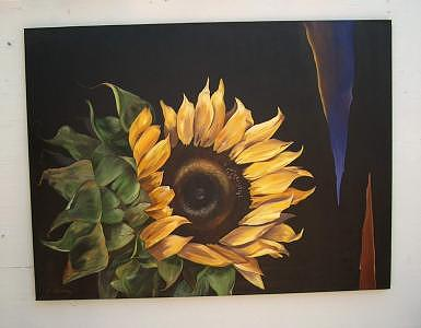Florals Painting - Sunflower by Stan  Sternbach
