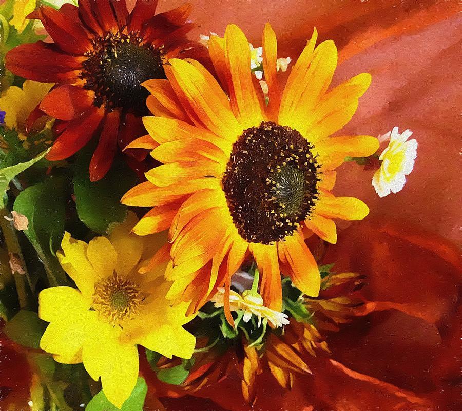 Flower Photograph - Sunflower Strong by Kathy Bassett
